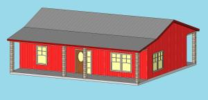 Option3b SF Metal Bldg_Front